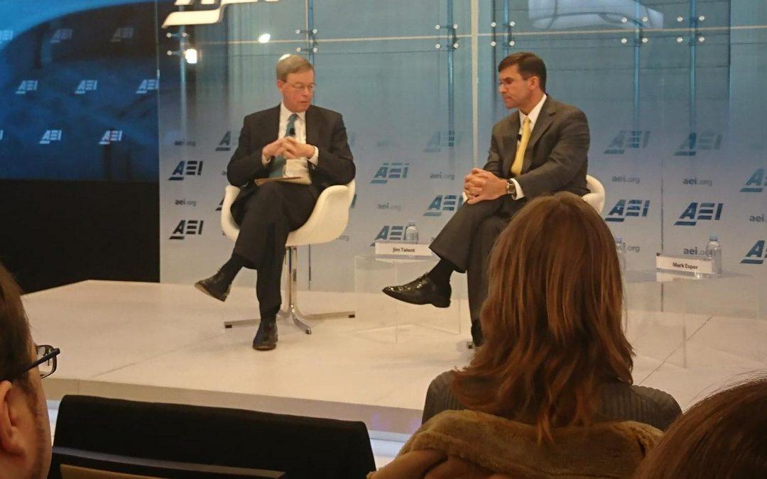 Conversation with Secretary of the Army Mark Esper