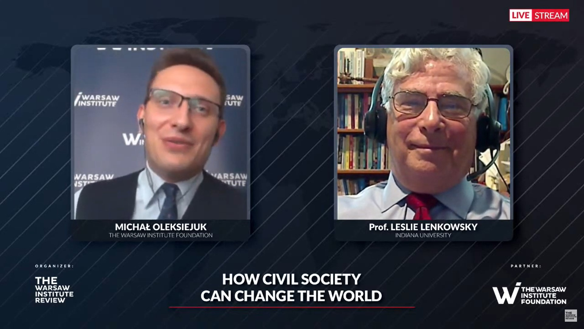 Video recording: How can civil society change the world?